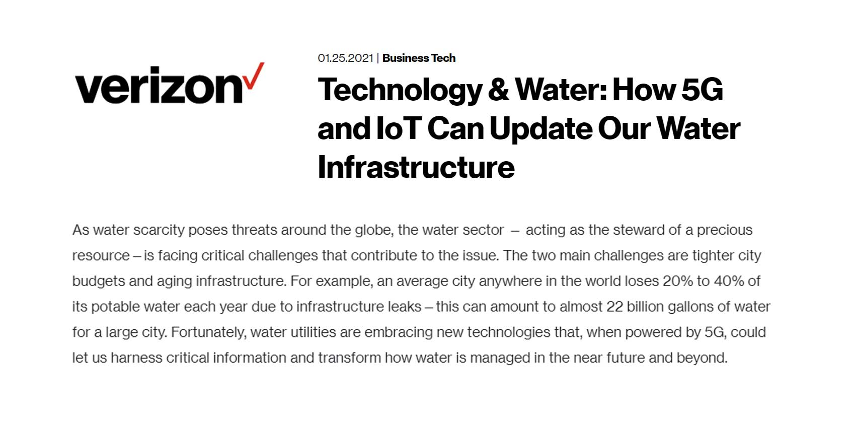 5G Water Infrastructure and KETOS